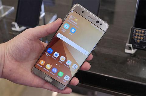 Samsung Galaxy Note 7 được trang bị màn hình Gorilla Glass 5