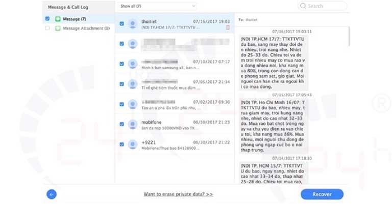 Cách khôi phục tin nhắn đã xóa trên iPhone XS Max dễ dàng hình 1