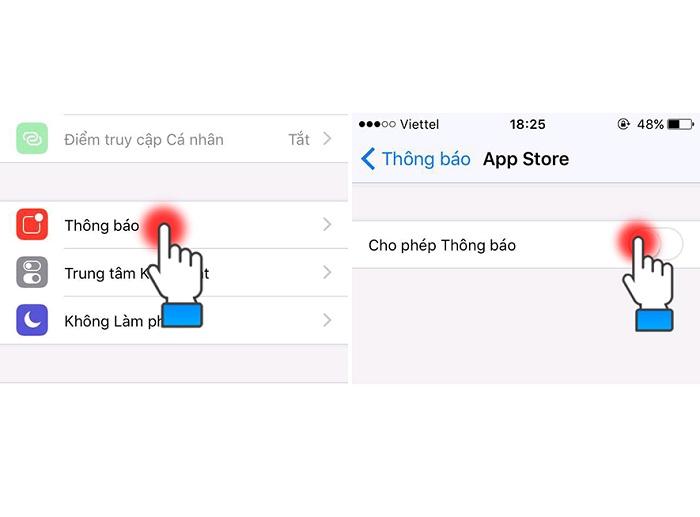 Hướng dẫn tắt chế độ hiển thị thông báo của các ứng dụng trên màn hình